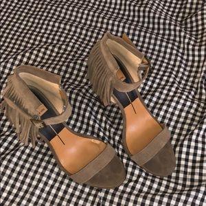 Dolce vita fringe heels